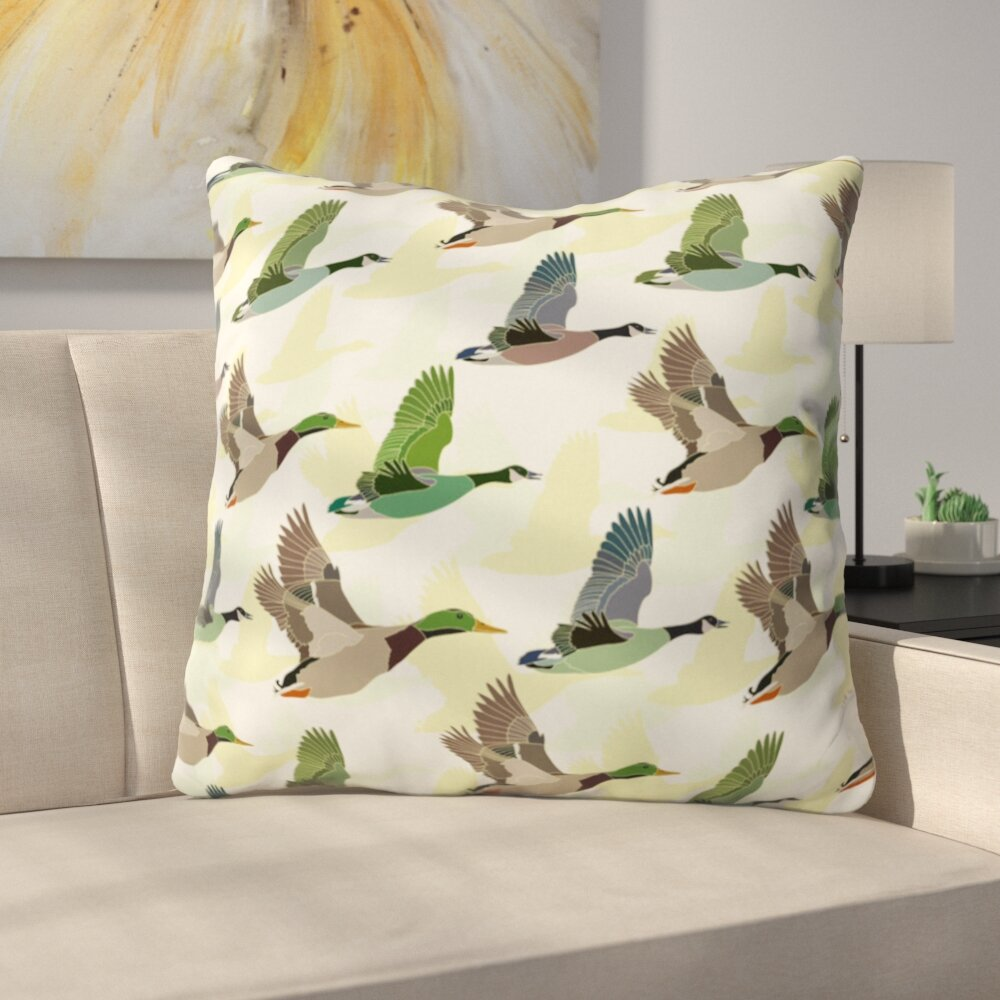 East Urban Home Flying Ducks Polyester Throw Pillow Wayfair
