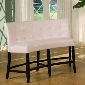 Brundage Counter Height Leatherette Bench by Latitude Run