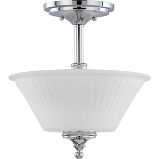 Haner Hinde 2-Light Semi Flush Mount by Charlton Home