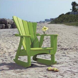 Wave Wood Rocking Adirondack Chair
