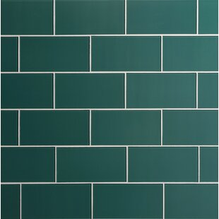 Quality Value Series 3 X 6 Gl Subway Tile In Glossy Dark Teal