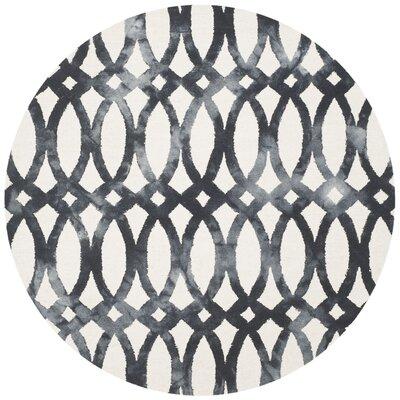 Zipcode Design Edie Hand-Tufted Cotton/Wool Graphite Area Rug Rug Size: Round 7'