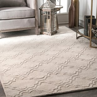 Alonza Hand Tufted Wool Ivory Area Rug