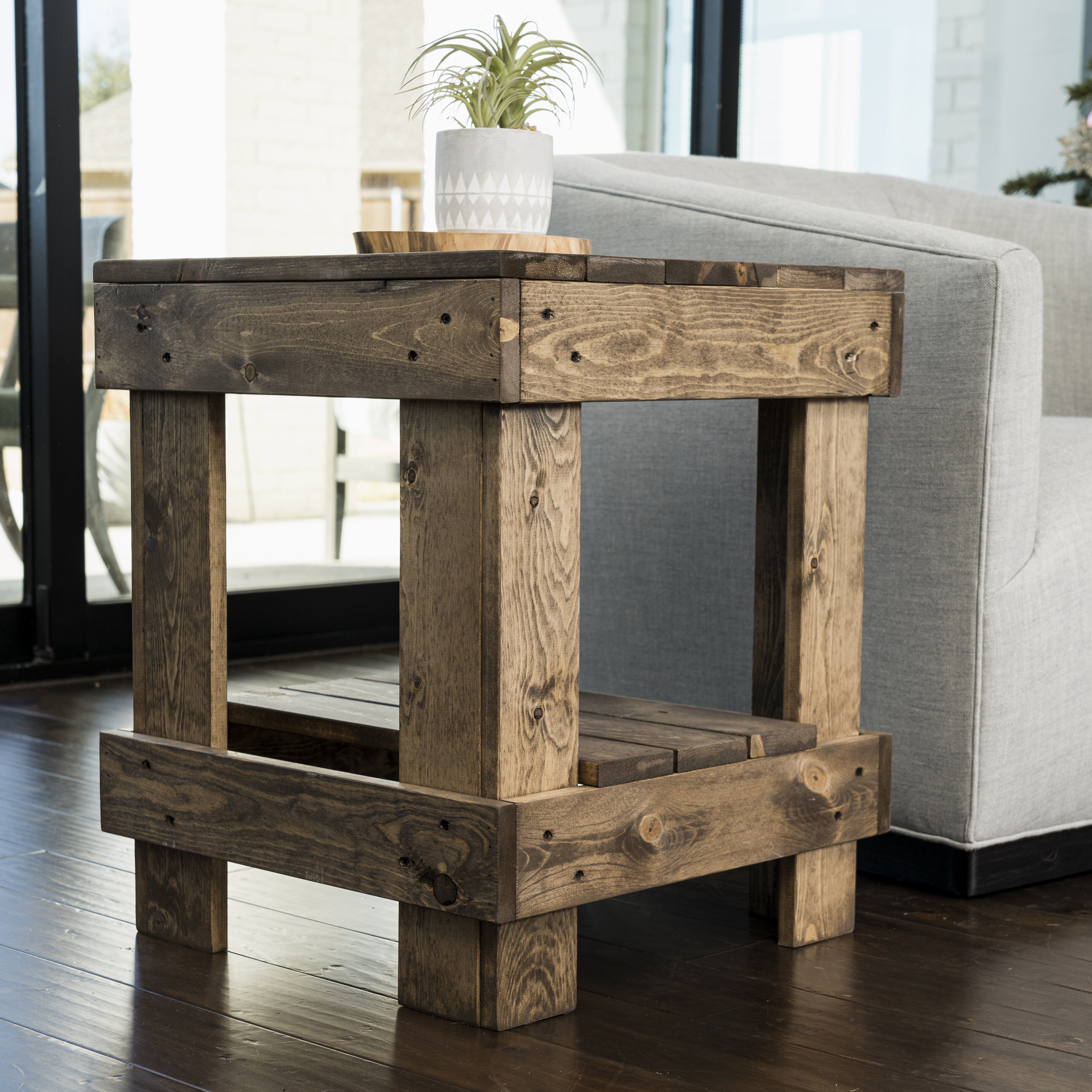 Foundry Select Coughlin Solid Wood End Table With Storage Reviews Wayfair