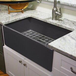30 inch apron sink wayfair rh wayfair com farmhouse 30-inch stainless steel undermount kitchen sink highpoint collection 30-inch single bowl fireclay farmhouse kitchen sink