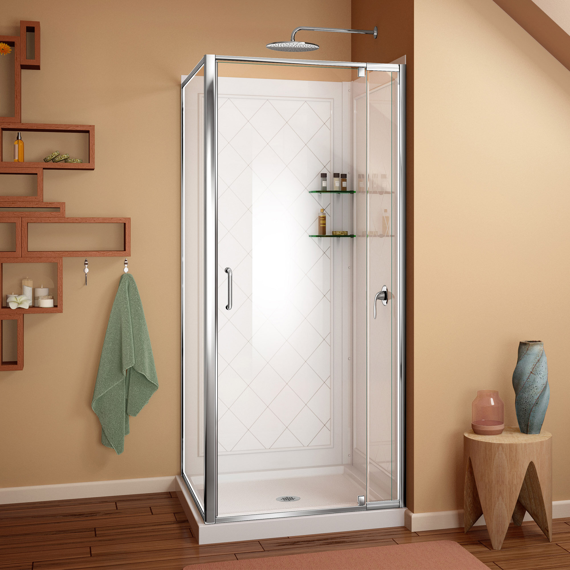 Dreamline Flex 32 X 7675 Rectangle Pivot Shower Enclosure With