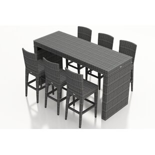 Harmonia Living District 7 Piece Sunbrella Bar Height Dining Set