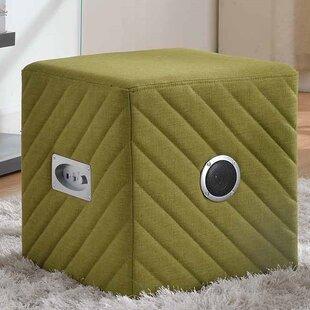 Jo Cube Ottoman by Ebern Designs