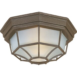 Affordable Price Middletown 2-Light Outdoor Bulkhead Light By Charlton Home