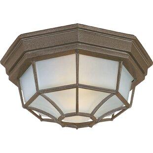 Best Reviews Middletown 2-Light Outdoor Bulkhead Light By Charlton Home