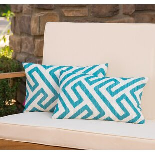 Swinford Geometric Rectangular Outdoor Lumbar Pillow (Set of 2)