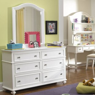 Pindall 6 Drawer Double Dresser with Mirror by Harriet Bee