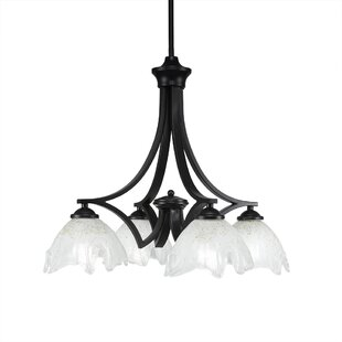 Ebern Designs Bedolla 4-Light Shaded Chandelier