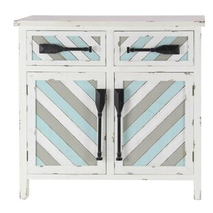 Marianna Coastal 2 Door Accent Cabinet with Oar Handles by Rosecliff Heights