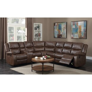 Fresno Leather Reclining Sectional by Red Barrel Studio
