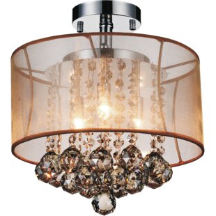 Online Reviews 3-Light Semi Flush Mount By CWI Lighting