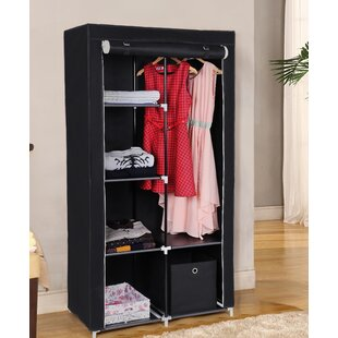 Double Canvas 88cm Wide Clothes Storage System By Songmics
