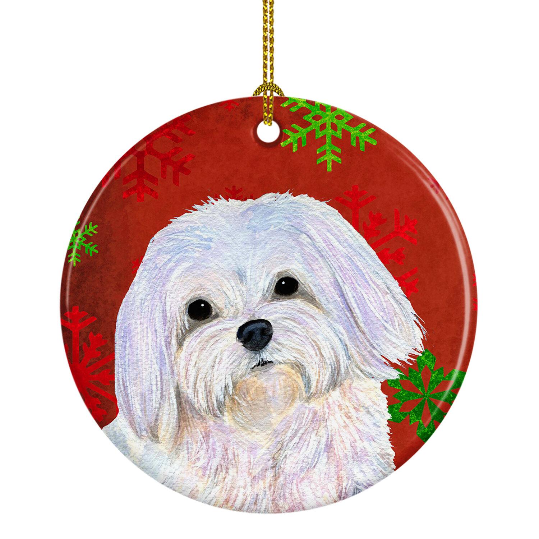 The Holiday Aisle Maltese Snowflakes Holiday Christmas Ceramic Hanging Figurine Ornament Wayfair