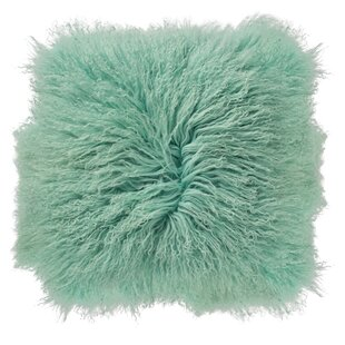 Moris Mongolian Lamb Fur Throw Pillow