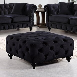 Bottom Tufted Cocktail Ottoman