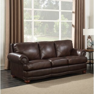 Shop Bednarek Premium Leather Sofa by Darby Home Co