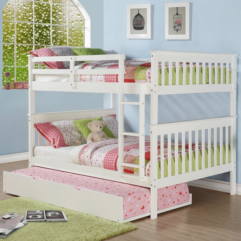 Full Bunk Bed With Trundle Part - 39: Mission Full Over Full Bunk Bed With Trundle