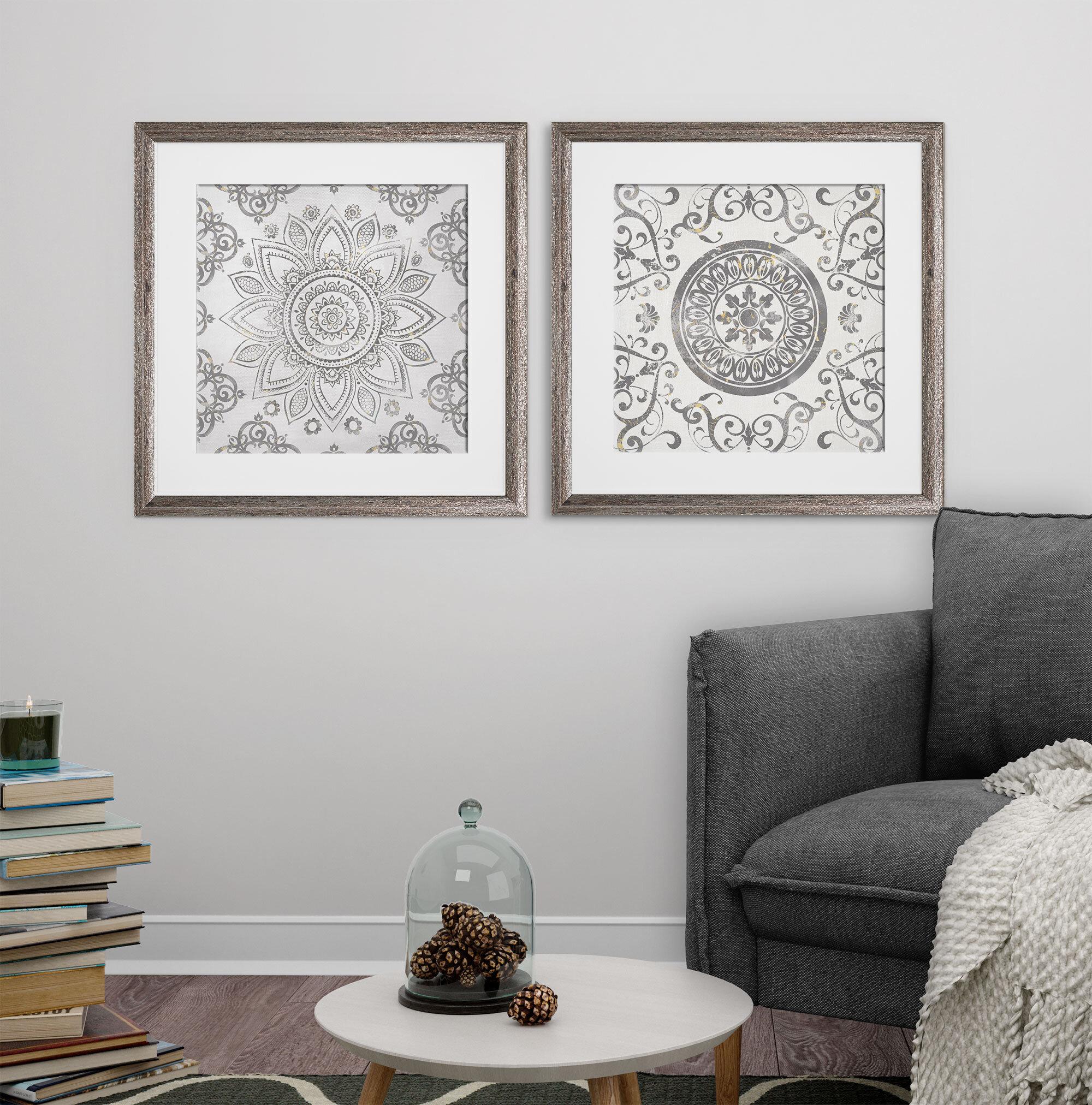 Mistana Mandala Sunburst 2 Piece Picture Frame Graphic Art Print Set On Paper Reviews Wayfair