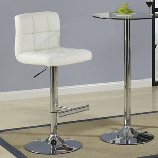 Harish Adjustable Height Swivel Bar Stool (Set of 2) Orren Ellis