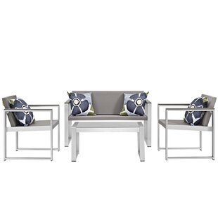 Modway Triumph 4 Piece Sofa Set with Cushions