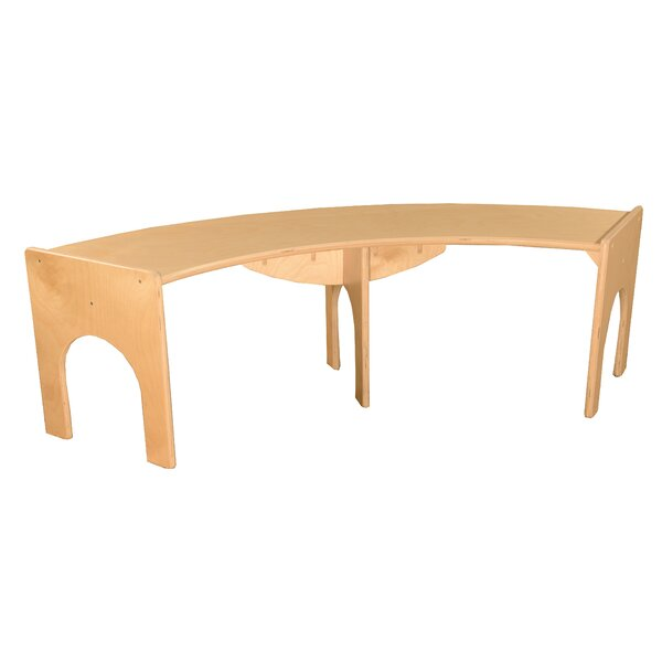 Terrific Curved Benches Wayfair Dailytribune Chair Design For Home Dailytribuneorg