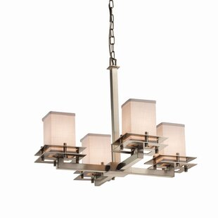 Latitude Run Red Hook 4 Light Square w/ Flat Rim Chandelier