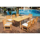 Ezequiel 9 Piece Teak Dining Set