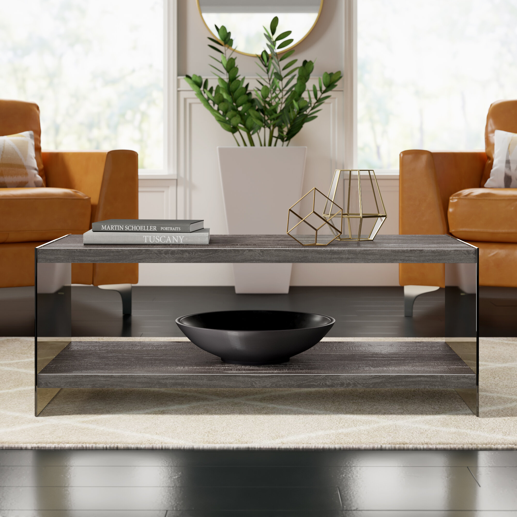 Image result for Modern coffee table with tray top