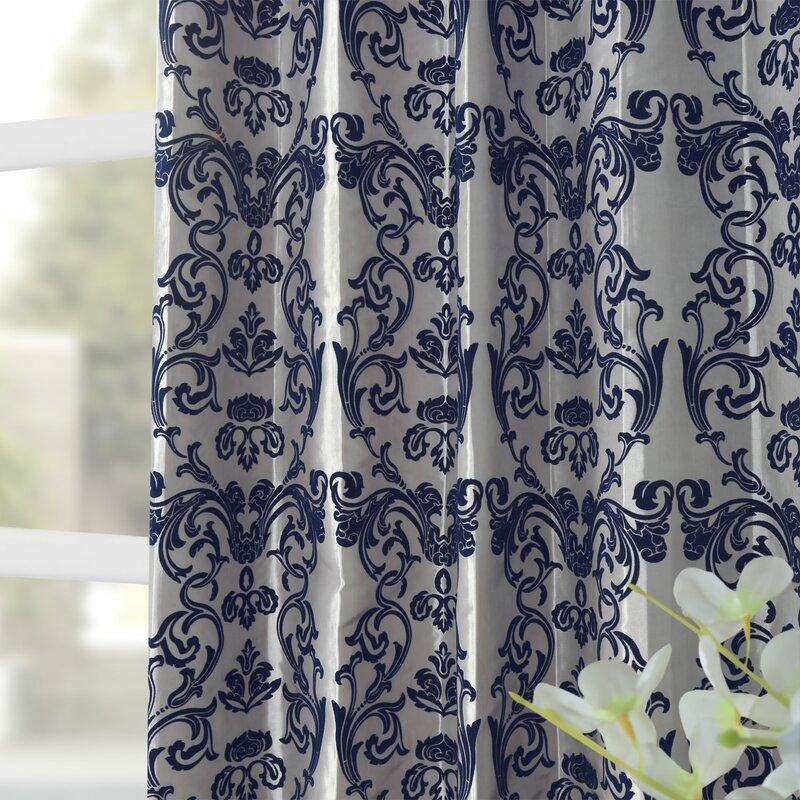 Hervey Firenze Fern Flocked Faux Silk