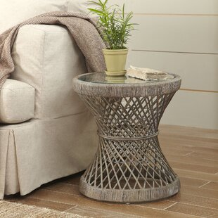 Backman Rattan Side Table by Bungalow Rose
