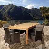 Olivari 9 Piece Teak Dining Set with Cushion