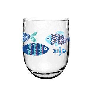 Emilio Nautical Dof 15 oz. Acrylic Whiskey Glass (Set of 6)