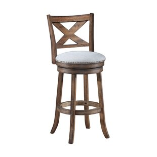 Mackin Wooden Swivel Bar Stool by Gracie ..