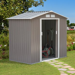 6 Ft. H 4 Ft. 2 In. W X 7 Ft. D Metal Storage Shed By Outsunny