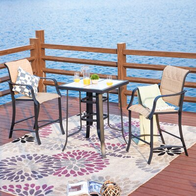 Swank 3 Piece Bistro Set by Charlton Home Great price