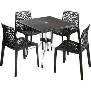 Bungalow Rose Whitaker Commercial Grade 5 Piece Dining Chair Set