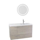 Urbain 39 Wall-Mounted Single Bathroom Vanity Set with Mirror by Orren Ellis