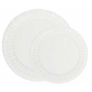 Engel Weave 50 Piece Melamine Dinnerware Set Service for 25  sc 1 st  Wayfair & Outdoor Dinnerware Sets Youu0027ll Love | Wayfair