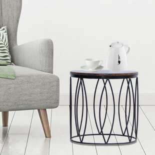 Daniels Contemporary Style Iron End Table by Ivy Bronx