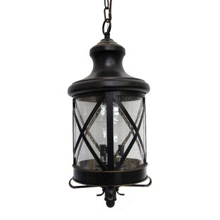 Gracie Oaks Younker 3-Light Outdoor Hanging Lantern