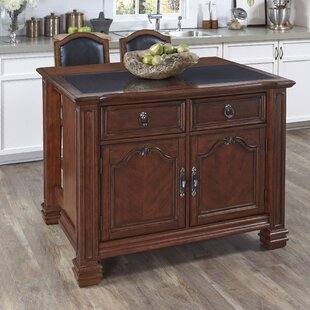Plains Kitchen Island Set Astoria Grand