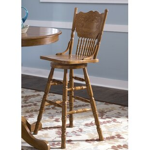 Acadian Swivel Bar Stool Alcott Hill