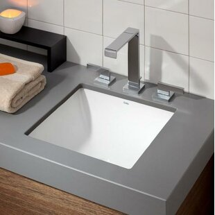 Cheviot Products Vitreous China Square Undermount Bathroom Sink