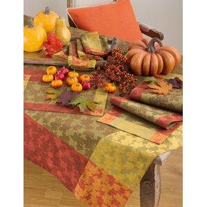 Lovely Arlington Fall Foliage Autumn Leaf Design Jacquard Cotton Tablecloth