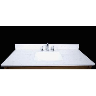 Comparison Bari 49 Single Bathroom Vanity Top ByRenaissance Vanity